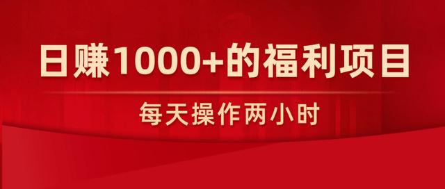 柚子团队内部课程:每天操作两小时,日赚1000+的福利项目