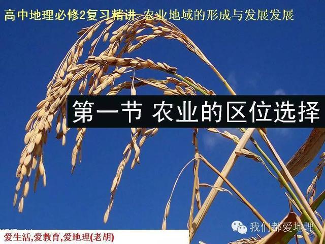 高中地理必修2复习精讲-农业的区位选择