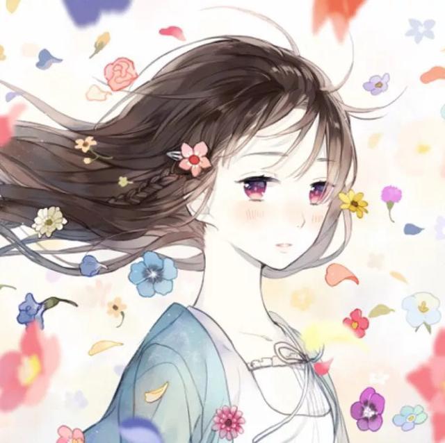 青春少女照片动漫,柒-动漫女生头像,青春就像蒲公英,看似自由却身不由己