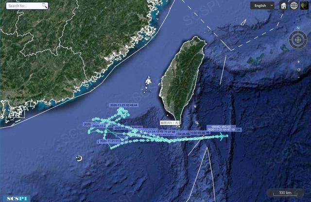 台媒:美军无人侦察机深夜出现台湾西南空域
