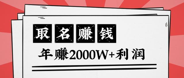 王通:不要小瞧任何一个小领域,取名技能也能快速赚钱,年赚2000W+利润