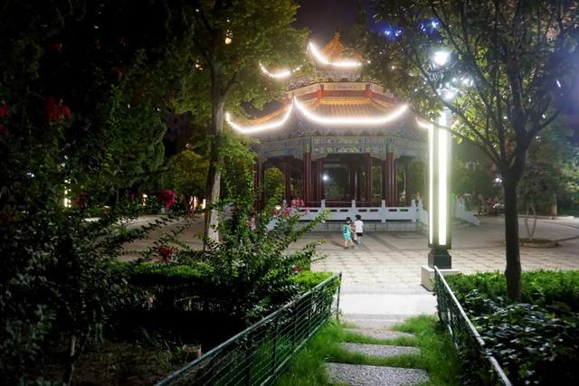 「游园夜景醉游人」晚上8点以后的工人文化宫,美爆了插图20