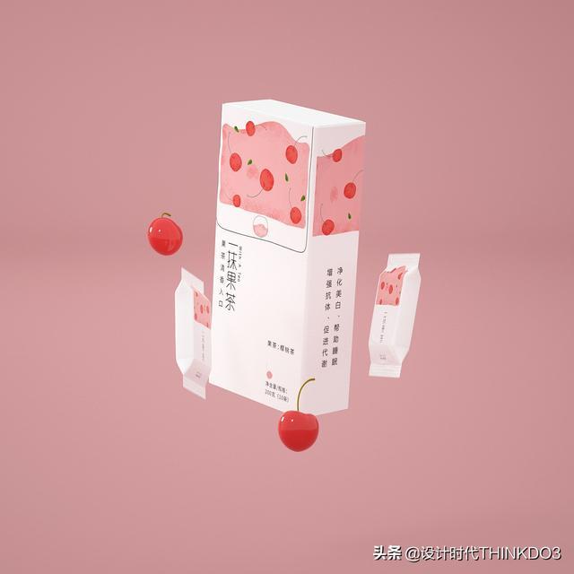 两款清新时尚风格的花茶包装设计,简直不要太美(图43)
