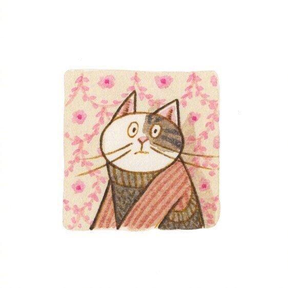 画师Eunyoung Seo 笔下的喵星人小头像,好可爱 乖乖的小猫咪-第7张图片-深圳宠物猫咪领养送养中心