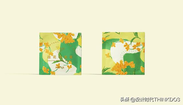 两款清新时尚风格的花茶包装设计,简直不要太美(图16)