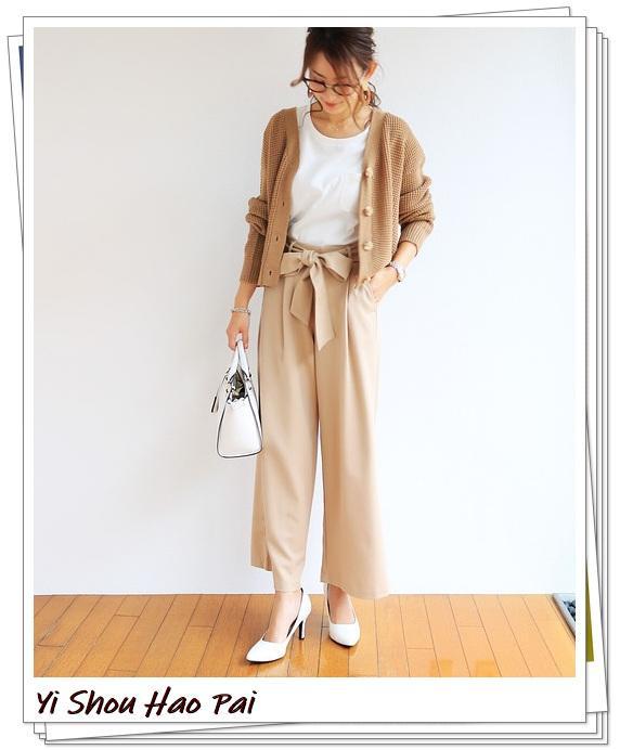 米色开衫的秋季搭配精选!24种你值得尝试的优雅穿搭-第6张