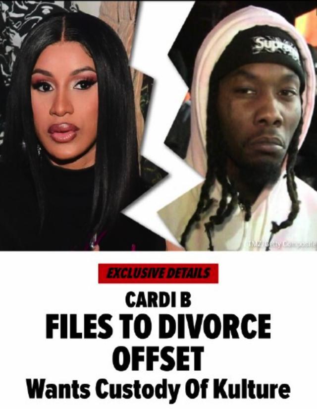 顶级女歌手卡迪B离婚!结婚3年女儿刚满2岁,老公至少出轨3次-第1张