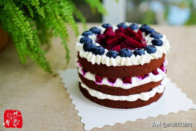 這個生日蛋糕太適合手殘黨了,不會裱花也能做,學會再不買著吃了