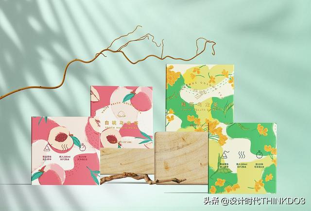 两款清新时尚风格的花茶包装设计,简直不要太美(图25)