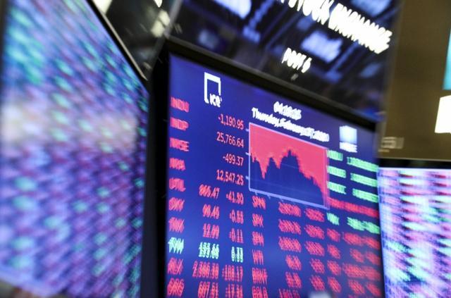 """美国股市再暴跌,美国股市三大股指27日再度暴跌,老练交易员惊出""""表情包"""""""