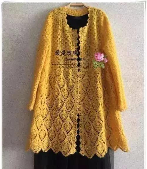 跟着手工高手学编织,超时尚毛衣钩编开衫教程,比买的都好看