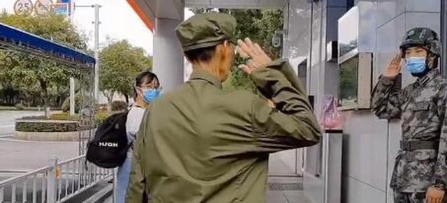 七旬老兵穿军装送孙女到国防科技大学报到,和卫兵互敬军礼看哭网友【www.smxdc.net】
