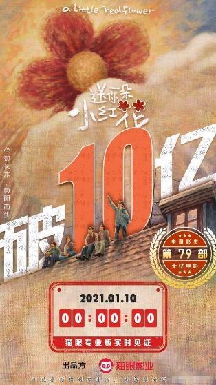 《送你一朵小红花》票房破10亿,成中国影史第79部十亿级影片 全球新闻风头榜 第1张