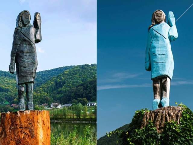 再也不怕烧:美国第一夫人家乡木雕被毁后,换成了青铜的-第1张