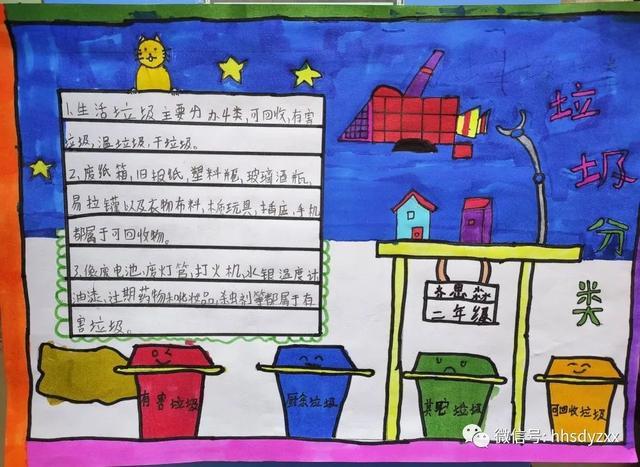 【垃圾分类】黄合少镇第一中心校垃圾分类主题小报优秀作品展  第7张