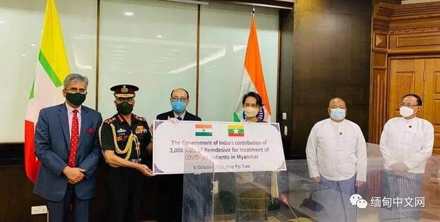 印度向缅甸捐赠3000支注射剂