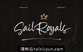 个人魅力十足的手写英文字体 Sail Royals Brush Script