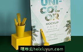 海报展示样机贴图模型Poster Presentation Mockups