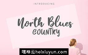北方国家的手写字体 North Country Blues Font #1806088