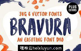 大胆的SVG字体 Bravura SVG Font Duo  Extras #2790271