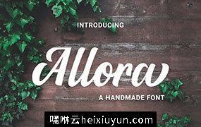 适合做标题的手写英文字体 Allora #2484765