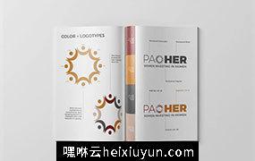 品牌风格指南杂志画册设计模板 Branding Style Guide Template #2830964