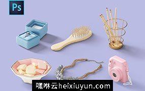 化妆品贴图样机元素[6] Stationery Items