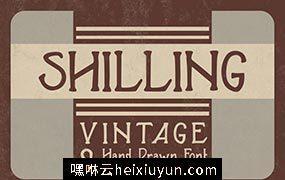 经典的设计字体 Shilling Font #573623