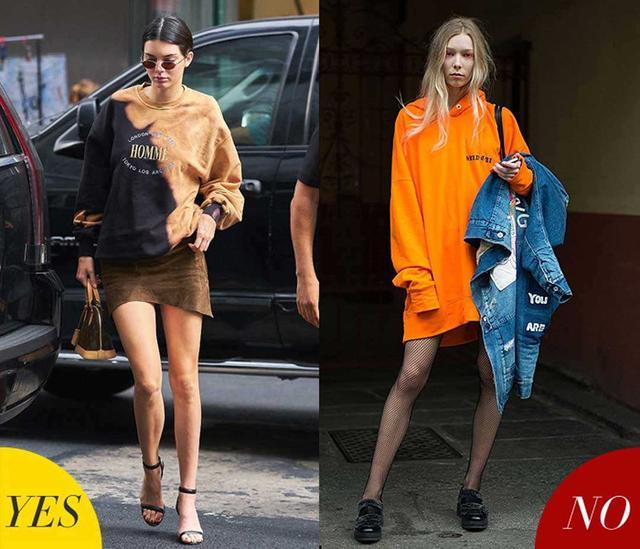 真正会穿的女人,秋冬穿卫衣都会避开这3个搭配误区,大妈既视感