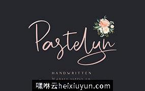漂亮时尚雅致的钢笔手写签名英文字体 Pastelyn – Handwritten Font #2719944