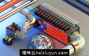 [04-05-16] Retro金属感水龙头输送机C4D动画工程文件分享