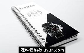 高品质螺旋装订专业产品目录设计书籍装帧VI样机展示模型spiral-bound-book
