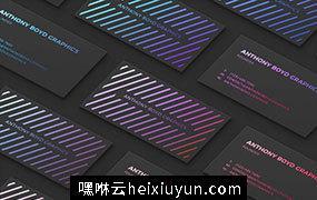 现代多色黑/白/金/铜质感名片样机Modern Customizable Business Card Grid Mockup