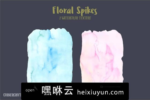 嘿咻云-水彩花卉插画设计套件 Watercolor Design Kit Floral Spikes #1602688
