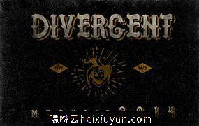 梦幻复古设计字体 MGH Divergent #23400