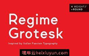 时尚现代的高端英文无衬线字体Regime Grotesk #540757