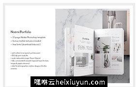 时尚干净简洁的画册杂志模板 Editorial Portfolio PSD ? Noémi#581855