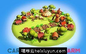 卡通春天农场3D模型Cartoon_Spring_Farm