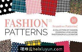 时尚无缝图案纹理 Seamless Fashion Patterns #142371