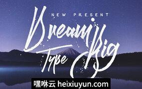 高级特色字体Dream Big #355521