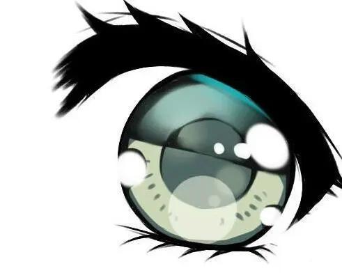 插画入门:动漫眼睛线稿上色教程