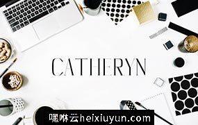 漂亮时尚的英文字体包 Catheryn Serif 4 Font Family Pack #1825855