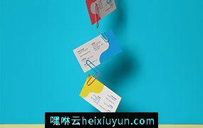 商务名片个性场景展示样机模版 Clipped Psd Business Card Mockup