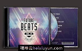 未来节拍音乐CD封面模板 Future-Beats-CD-Cover-Artwork