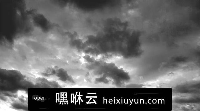 嘿咻云-一组高清云彩素材 Black & White Sky Backgrounds