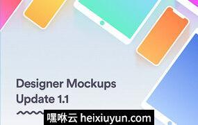 手持iphone X显示设备样机贴图模型Ultimate Designer Mockups