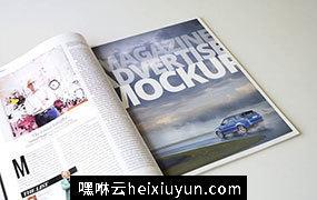 杂志广告版面编排样机模板 Magazine Advert Mockups #1065345