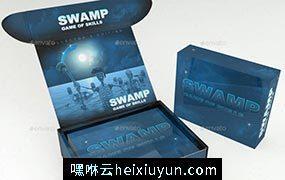 Subscription Box Mock-Up飛機盒設計模型