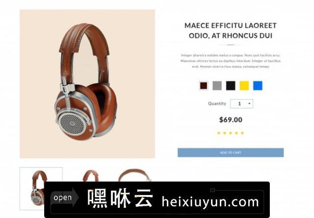 嘿咻云-时尚创意机构摄影工作室家居电子商务在线购买网购PSD网页模板Ryze 06