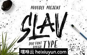 高端英文字体Slav Type #868426